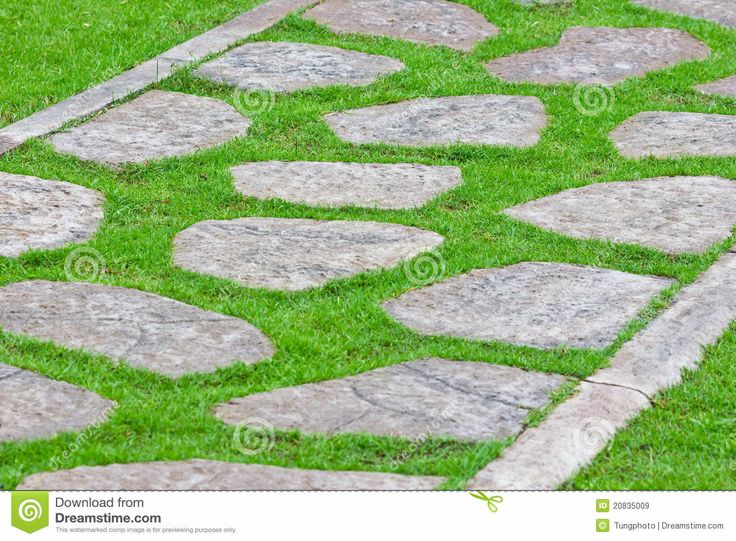 Stone path green grass pixels for Stone path in grass