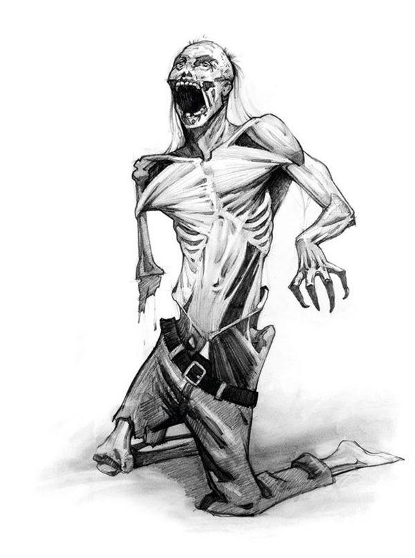 зомби апокалипсис рисунки карандашом фигурировали
