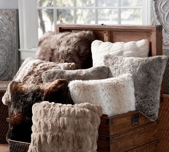 Faux Fur Pillow Cover | Pottery Barn