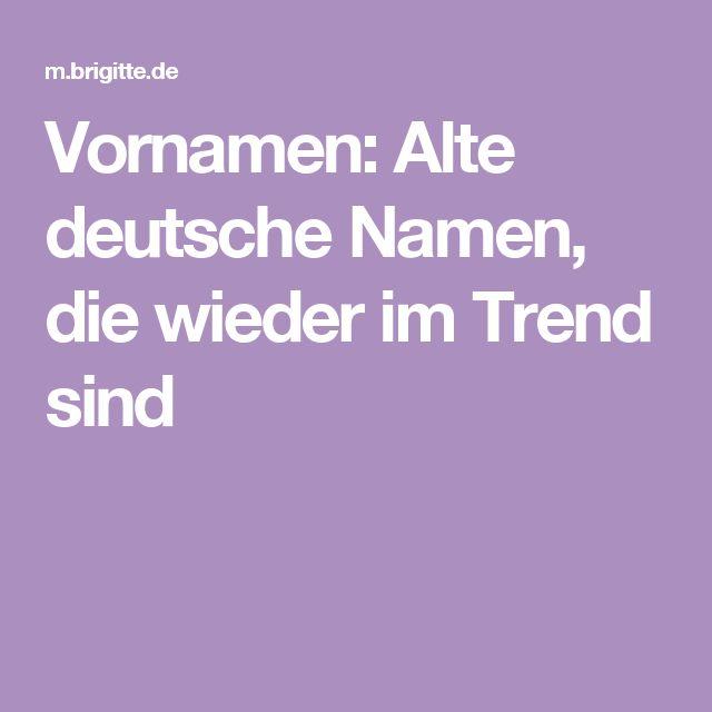 alte deutsche mädchennamen