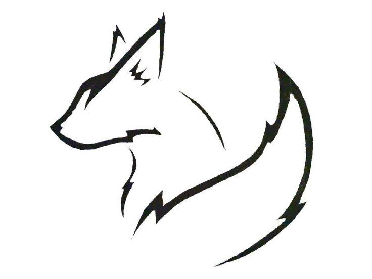 idée de modèle de tatouage - un renard tribal