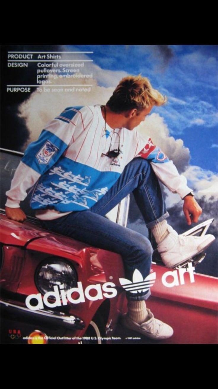 Vintage 1988 Olympics adidas poster