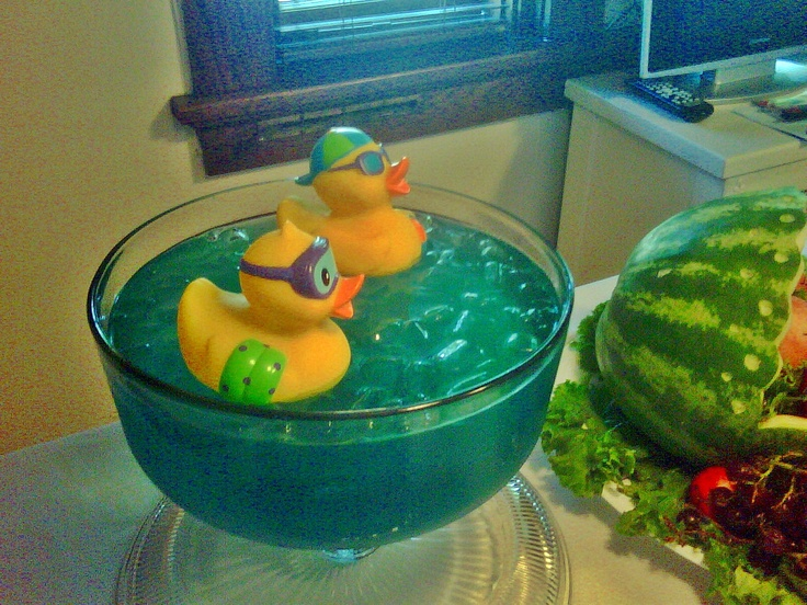 twin boys baby shower blue punch with duckies taken with my phone
