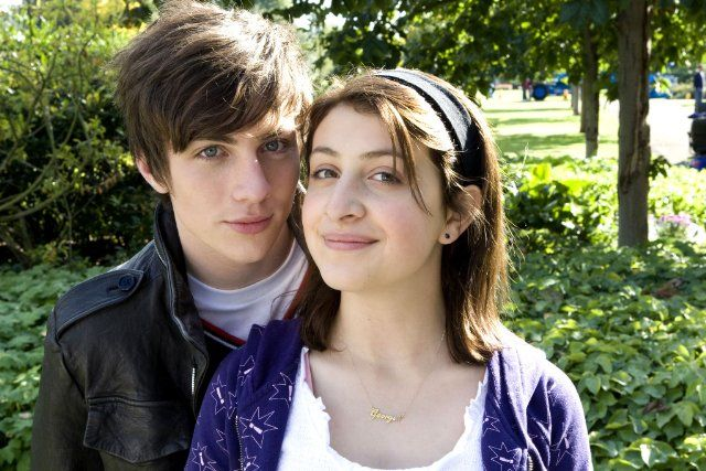 Still of Aaron Taylor-Johnson and Georgia Groome in Angus, Thongs and Perfect Snogging