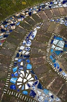 Detail of mosaic tiles.  New Zealand