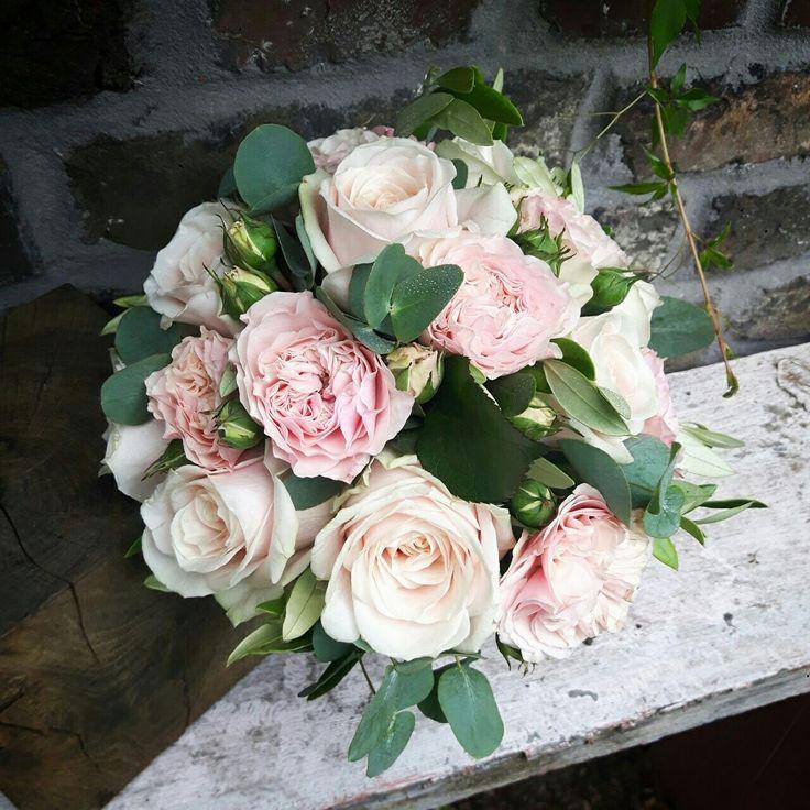 Bridalbouquet Brautstrauß rosa Rosen Vintage Hochzeit