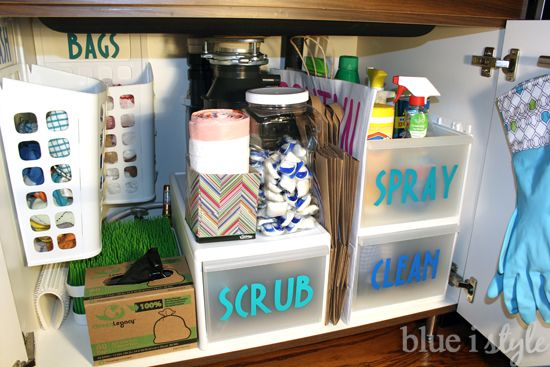 Tips for Organizing Under the Kitchen Sink - Organizing under the kitchen sink may be one of the most challenging spots in the entire house! Not only are you de…