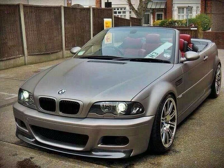 bmw e46 m3 cabrio in matte grey carz pinterest e46. Black Bedroom Furniture Sets. Home Design Ideas