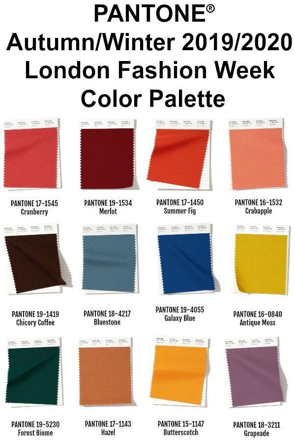 Fall Color Palette 2020.Pantone London Color Palette For Fall Winter 2019 2020 Not