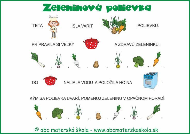 varíme zdravo - zeleninová polievka - maľované čítanie