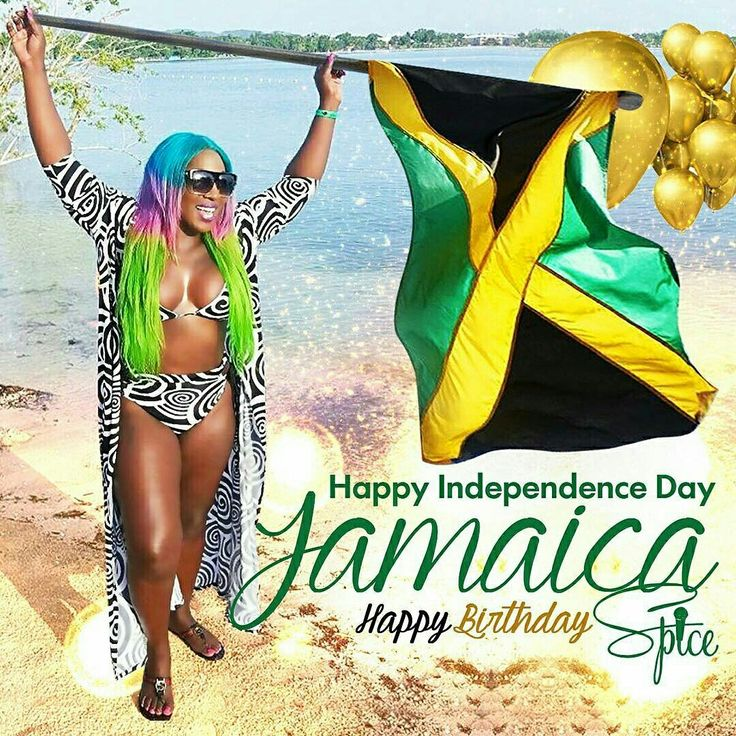Happy Independence Day Jamaica  #LoveMyCountry Now you know why I'm so independent #HappyBirthdayToMeeeeeee - @spiceofficial @Regrann from @spiceofficial  -  #Regrann #spice #gracehamilton #happy #birthday #day #birthdaygirl #jamaica #independence #green #yellow #black #flag #jamaciaflag #gold #balloons #goldballoons #white #black #blue #blackandwhite #green #brown #sand