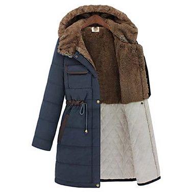 de manga larga con capucha de la manera delgada de melocotón juan mujeres espesar abrigo - EUR € 32.72