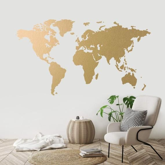 DIY Travel World Map Print Removable Vinyl Wall Stickers Room Decor Decal Paper