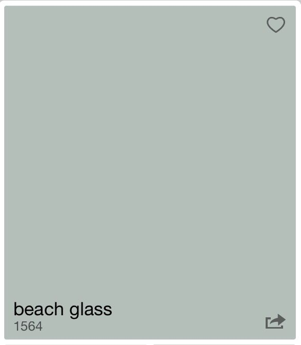 Benjamin Moore Beach Glass for my office