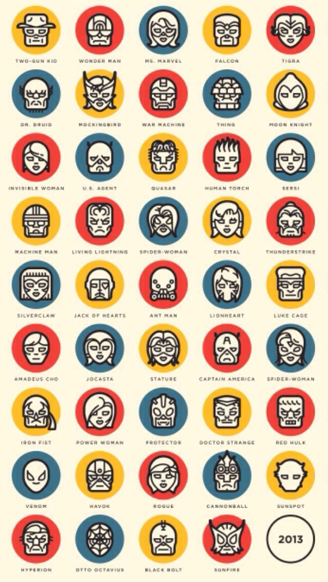 Marvel faces iPhone 5 wallpaper iPhone 6 Wallpapers