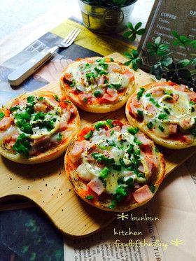 イングリッシュマフィンで簡単ピザトースト
