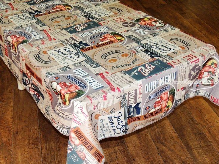 Mantel Antimanchas de Poliéster - Modelo AMERICAN FOOD. http://www.mantelesyregalos.com/manteles-antimanchas-poliester/2791-mantel-antimanchas-de-poliester-modelo-american-food.html