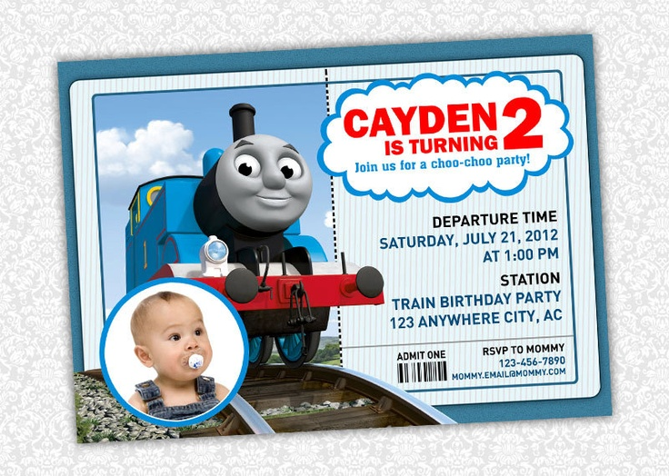 86 best thomas/train invitations images on pinterest | thomas the, Birthday invitations