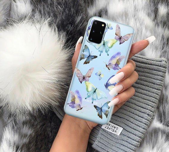 Butterflies Case Clear Animalcase Samsung S10 Case S20 Etsy In 2021 Samsung Phone Cases Case Cool Phone Cases