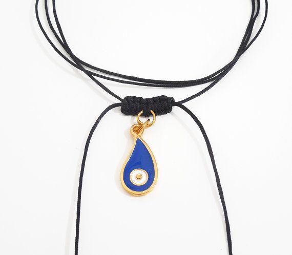macrame jewelry greek jewelry evil eye by christelboutique on Etsy