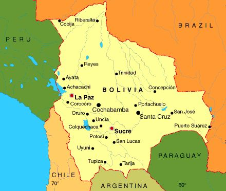 map of bolivia and surrounding countries - Yahoo Image Search Results