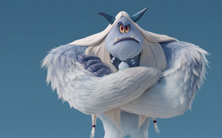 Download wallpapers Jimmy Tatro, 2018 movie, adventure, 3D-animation, Smallfoot