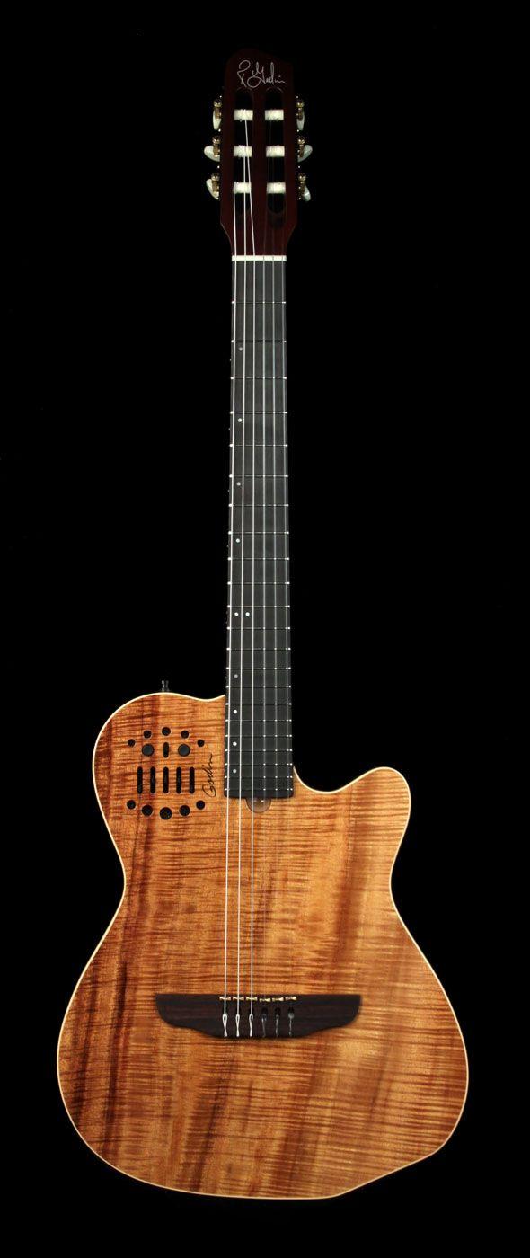 Godin ACS Koa: classical guitar concepts + solidbody design. A Music Zoo exclusive.