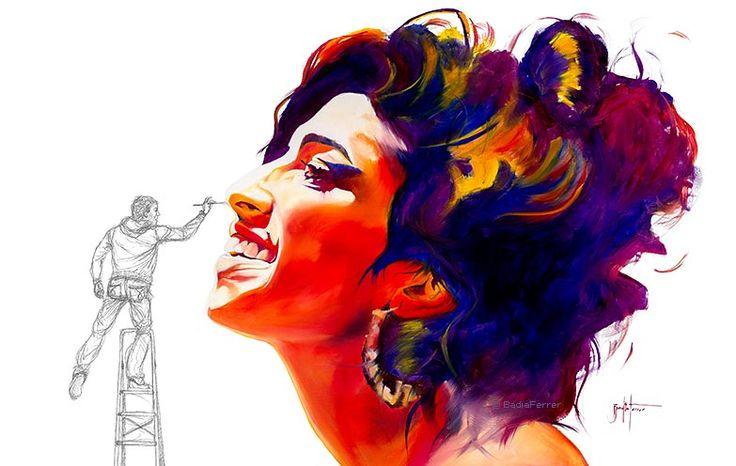 Amy Winehouse © BadiaFerrer  Badia Ferrer es un pintor de Mallorca que realiza pinturas al óleo de talentos musicales y artistas consiguiendo un resultado resultado fresco y expresivo.
