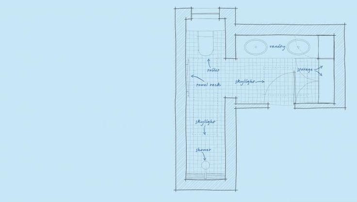 L-shape bathroom layout   Bathrooms   Pinterest   Bathroom ...