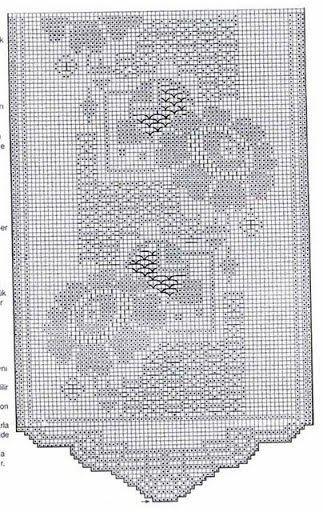 17 best images about rideau au crochet crochet curtain 39 s. Black Bedroom Furniture Sets. Home Design Ideas