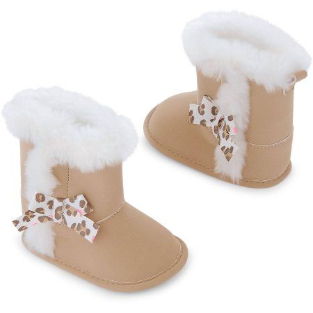 Child of Mine by Carter's Newborn Baby Girl Fur Boots - Walmart.com