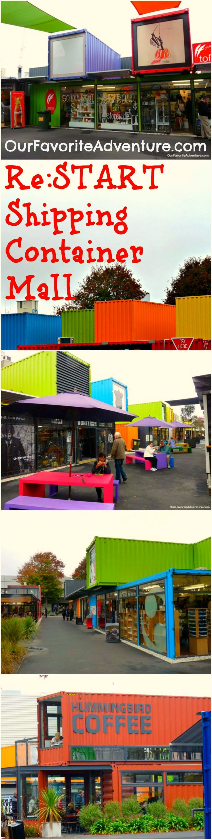 Re:Start Shipping Container Mall in Christchurch, New Zealand! #shippingcontainters