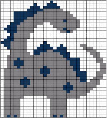 Dinosaur perler bead pattern