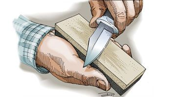 Sharpen your blade- it never ceases to amaze me how many people don't know how to do this!