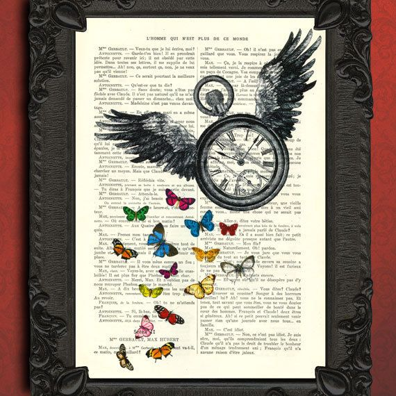 Hey, I found this really awesome Etsy listing at http://www.etsy.com/listing/109196716/time-flies-pocket-watch-print-antique