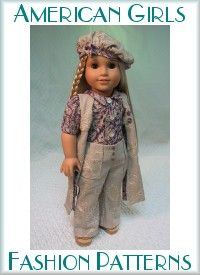 Doll Clothing Patterns Page - MHD Designs AG as well as other size dolls Incredible patterns