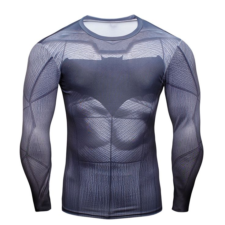 nice Rashguard Long Sleeve Rashguard Batman DC Comics Armor Gear  -  This t-shirt looks like natural superhero gear! Fits perfectlyrash guard tee shirtis ideal for sport and daily usage. This shirt containslycra, which allows material stretch to the several sizes and comes back to normal size. Perfectly breathtissue, the color doesn't fade over time.