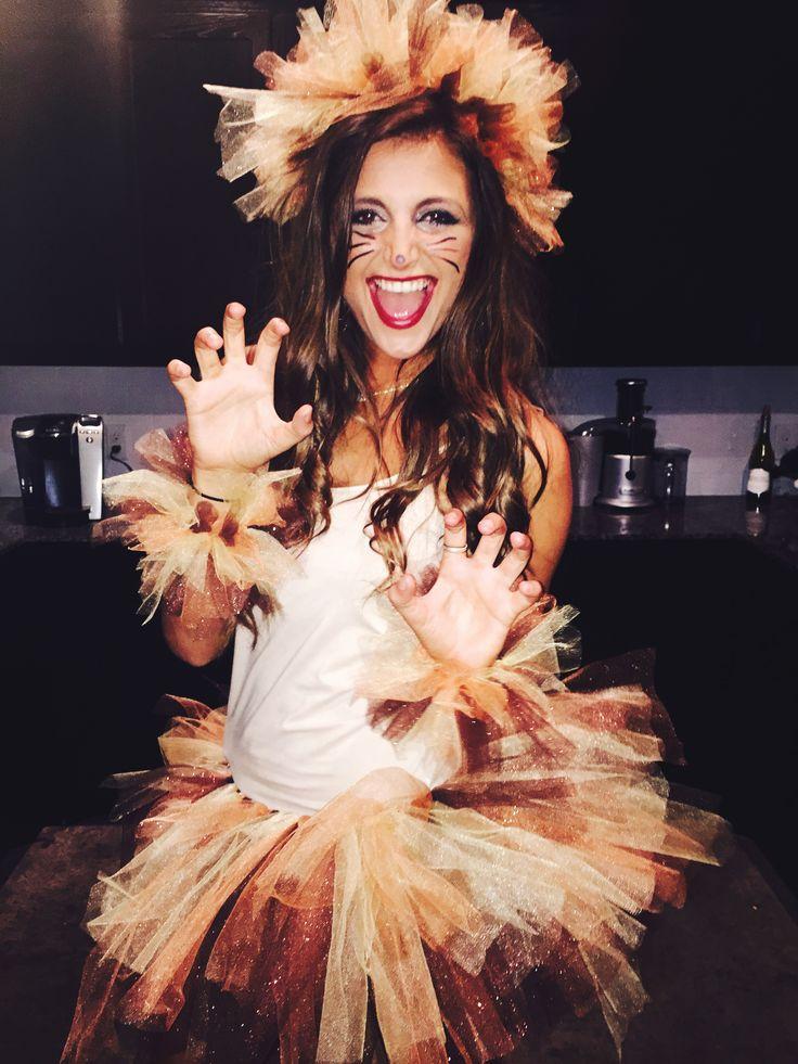 Fun lion sorority halloween costume!                                                                                                                                                                                 More