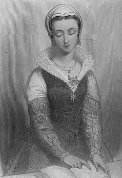 Lady Jane Gray. She was queen of England for nine days, only to have her throne taken by Mary I. She was ultimately killed because she refused to convert to Catholicism, holding fast to her Protestant faith. She is regarded as one of the best educated women of her time. And her story was included in Foxe's Book of Martyrs. The detailed report of her execution shows her meekness, presence of mind, and extreme, resolute courage.
