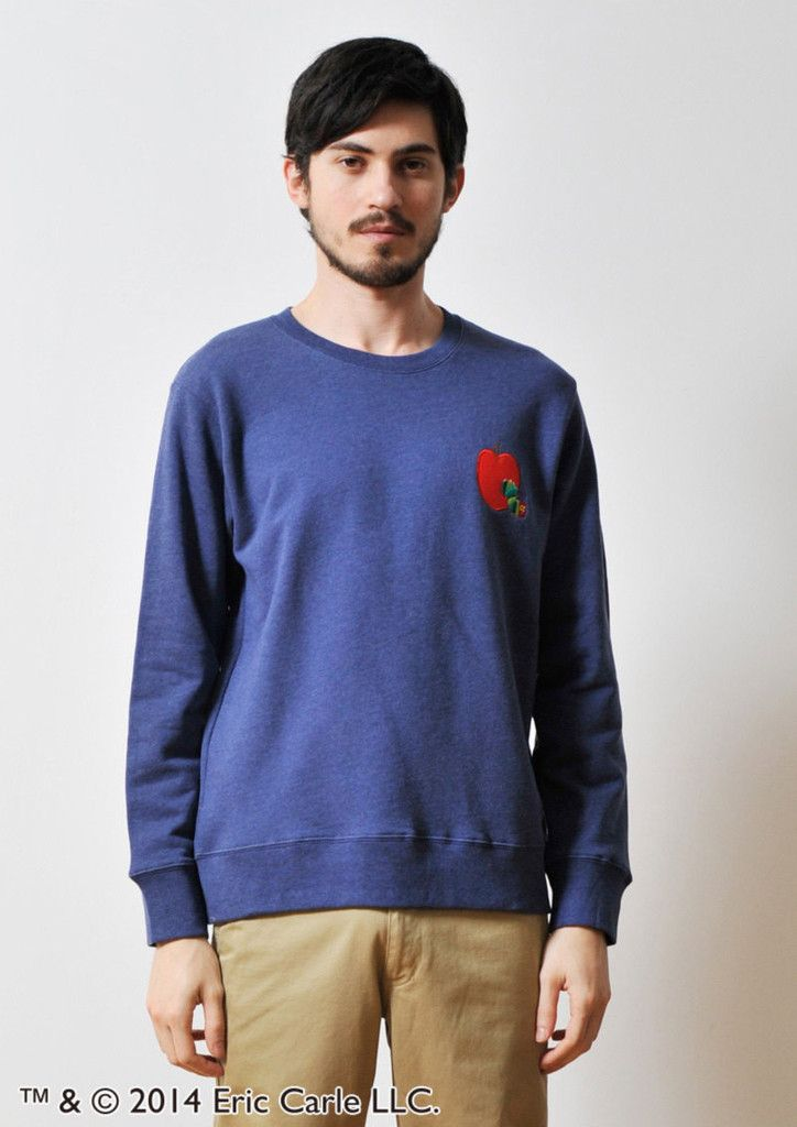 Red Apple Embroidery (Eric Carle Basic Long Sleeve Sweat) – Design Tshirts Store graniph