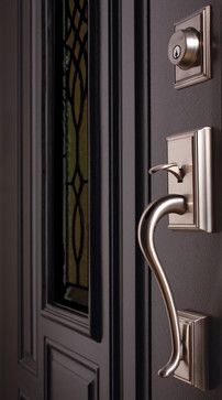 Schlage Decorative Collections Addison Handleset In Satin Nickel   Modern    Windows And Doors   Schlage