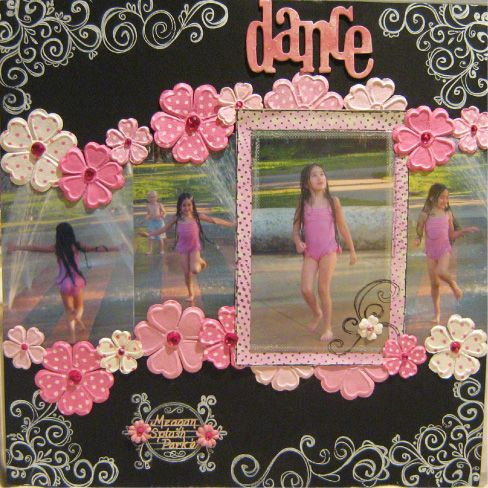 My daughter asked me to make her a scrapbook and she LOVES pink.  This is a keeper.
