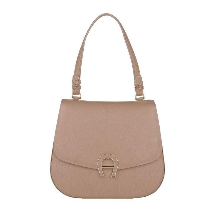 Aigner Aigner Tasche – Pina Medium Shoulder Bag Tan Brown – in rosa, beige – Henkeltasche für Damen