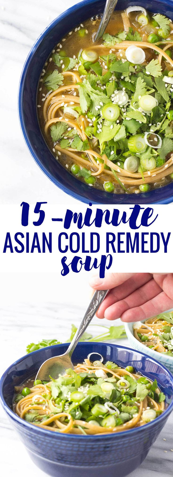 15 Minute Asian Cold Remedy Soup - quickly, healthy recipe for boosting your immune system // Fork in the Kitchen