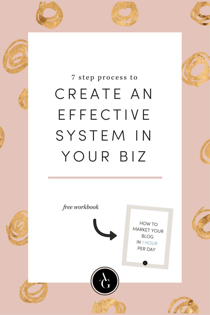 Do you have any systems set up for your blog? Could your business run without you? Click here to check out my 7-step process to identify where you can implement a system in your business. Oftentimes, we are blinded by our daily routine to see what we should automate or can improve.