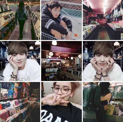 Chanyeol x record store date