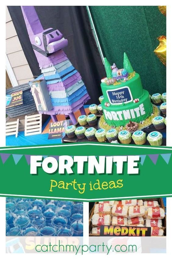 check out this cool fortnite birthday party the birthday cake is awesome see - fortnite brochure