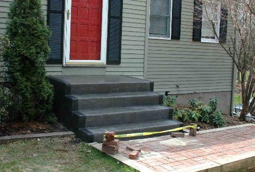Painted concrete steps patio pinterest painted - Concrete porch steps ideas ...