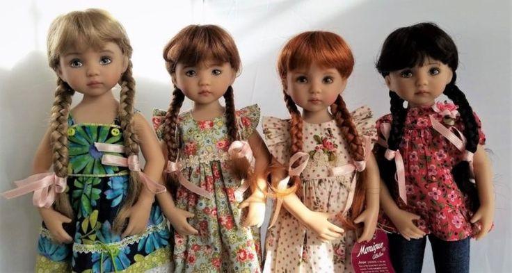Моник Кэти парик 7 1/4 для Effner Little Darlings Iplehouse Msd-каштановый