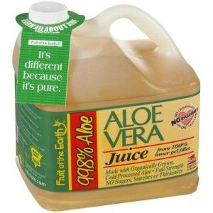 Aloe vera juice isn't just great to drink, its great for your hair too- you can use it in several different ways. Personally, I find aloe vera juice more convenient but both are great!